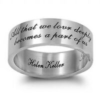 Hellen Keller Quote Stainless Steel Ring Sizes 5-12