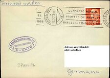 Schiffspost Spanien 1966 Schiffsstempel Bordpoststempel Shipletter Espana Marke