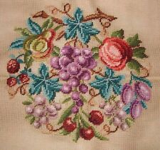 EP 9833/2 Vintage Bucilla Fruit Pears Grapes Preworked Design Needlepoint Canvas