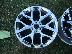 22'' Sierra Silverado Escalade Tahoe Yukon 1500 Chrome Wheel Rim OEM 5668 #2