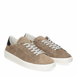 D.A.T.E. Ace suede taupe