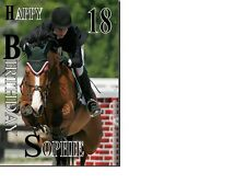 Show Jumper Female Horse Birthday card Personalised A5