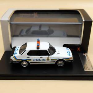 1:43 SAAB 900i Swedish Police 1987 PRD450 Toys Car Premium X Models Diecast Gift