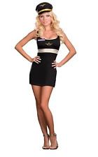 Dreamgirl Sexy Mile High Club Stewardess Pilot Halloween Costume Adult Sz Small