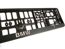 Black 3D BMW European Euro License Number Plate Holder Mounting Frame German EU