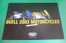 BUELL MOTORCYCLES MOTO 2003CATALOGO BROCHRE LIGHTNING XB9S FIREBOLT XB9R