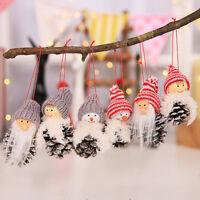 Eg _ 3 Pezzi Pigna Bambola Albero di Natale da Parete Ciondolo Ornamenti Festa