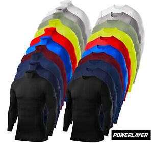 Compression Base Layer Tops PowerLayer Mens Boys Tees & Vests Sports Running