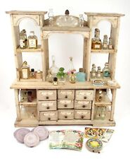 Antique Miniature Perfume Store Display with Perfume Doll House Size