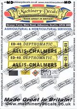 Allis Chalmers ED40 depthomatic Decals set