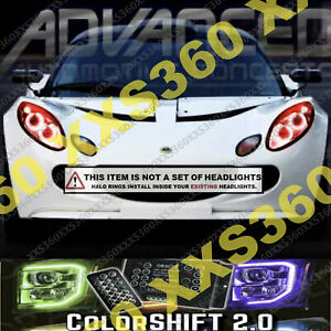 ORACLE Headlight HALO KIT RINGS for Lotus Elise 04-08 COLORSHIFT 2.0 w/ remote