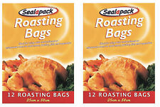 24 LARGE ROASTING BAGS MICROWAVE OVEN COOKING MEAT CHICKEN TURKEY FISH-131383