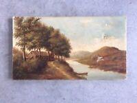 Antique American Oil Painting Landscape Signed H L Williamson