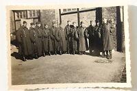 19646 Gruppi Foto Soldati IN Cappotto Inverno Bei Prenzlau Del 1939 Aereo