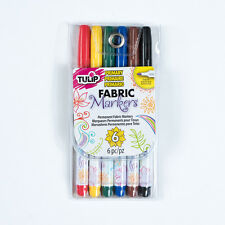 TULIP Fine Tip Permanent FABRIC Markers - PRIMARY - 6 Pack