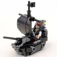 Custom LEGO Black Ship (Pearl) with LEGO Jack Sparrow Minfigure