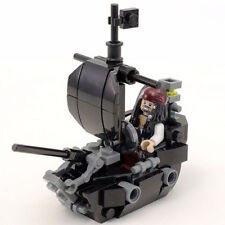 Custom LEGO Black Ship (Pearl) with LEGO Jack Sparrow Minfigure