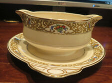 Johnson Brothers Pareek St. Cloud Gravy Boat with attached Underplate