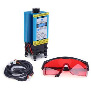 DIY TTL PWM CNC 5.5W 5500mW 450nm blaues Laser-Modul-Stich-Schneider + Goggle