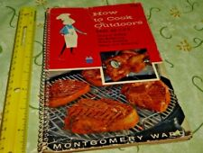 MONTGOMERY WARD 1957 HOW TO COOK OUTDOORS EASY AS 1-2-3 Free Shipping