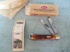 Case XX  Stag 2 blade trapper folding #00164 IOB