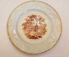 Staffordshire PEARLWARE Plate With Luster Oriental Asian Scene CIRCA 1820!!! EUC