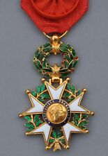 Ordre de la Légion d'Honneur, officier en or, III° République, modèle de luxe