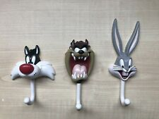 Kids Wall Hooks Door Hangers, Bugs Bunny Taz Sylvester, Loony Tunes, Christmas