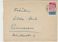 German 1950 Mainz 1 Cancel Obligatory Tax Aid for Berlin Stamps Cover Ref 26778