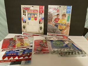 Disney Pixar Cars Hallmark Banners, Medals, Table cover and Party Game Lot