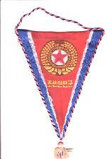 Vintage Olympic Comittee North Koreea Embroidered silk pennant 1960s' Very rare