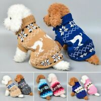 Pet Dog Knitted Jumpsuit Warm Winter Sweater Coat Puppy Vest Jacket Clothes Y1