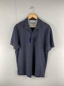 Charles Tyrwhitt Men's BNWT Short Sleeve Collared Polo Shirt Size L Blue NEW