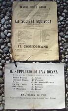 1860 Flyers By Sitcoms By Alexandre Dumas Figlio. Theatre Of Lodges Firenze