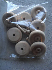 "Lot of 8 Wood Car or Wagon Wheels 1 3/4"" Wide LOOK"