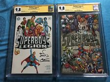 Superboy's Legion #1-2 set - DC - CGC SS 9.8 - Signed by Alan Davis, Mark Farmer