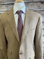 Ralph Lauren Purple Label Cashmere Blend Oatmeal Jacket Size 42L