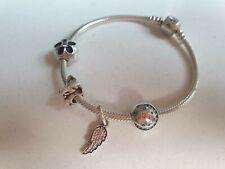 Silver Pandora Bracelet with Four Charms