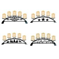 Wrought Iron Table Top Pillar Candle Holder