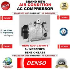 NUOVO DENSO AIR CONDIZIONE AC COMPRESSORE OEM: A0012304911 per MERCEDES BENZ CLASSE C