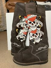 Women's Ed Hardy Snowblazer Boots Knee High Love Kills Slowly Size 8 / 9 Used