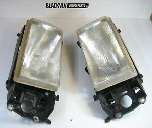 Volvo 740 940 960 Headlight Set Right & Left Cibie Genuine Original