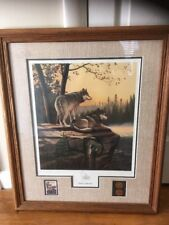 Summer Splendor Leo Stans Wolf Painting Commemorative Coin Stamp National Park