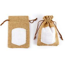 20pcs Bolsa de Organza Bolsitas de tela de saco para regalo decorar boda bautizo