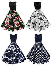 Retro Vintage Women 50s ROCKABILLY Pinup Housewife Swing Evening Party Dress