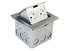 Lew Electric PUFP-CT-SS Countertop Box, Pop Up w/20A GFI Receptacle - Stainless