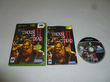 XBOX VIDEO GAME THE HOUSE OF THE DEAD III COMPLETE W CASE & MANUAL