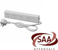 4/6 Way Socket Outlet Surge Protector PowerBoard Lead PowerPoint Cord 3 PIN SAA