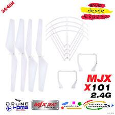 Set Blanco Drone MJX X101 2.4G. Hélice, Tren de Aterrizaje, Anillo de protección