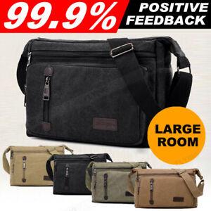 Retro Men's Canvas Shoulder Messenger Bag Crossbody Satchel Travel Man's Bags AU